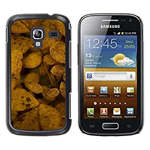 LECELL--Funda protectora / Cubierta / Piel For Samsung Galaxy Ace 2 I8160 Ace II X S7560M -- Decay Nature Leaves Yellow Autumn --
