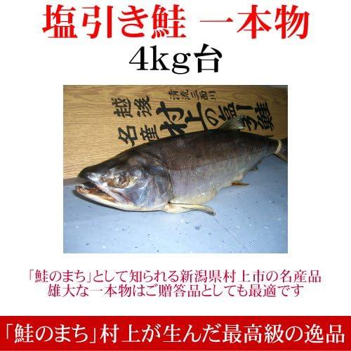 [進学祝いのお返し]塩引き鮭(一本物)4kg台 越後村上の名産品です[全国送料無料・新潟の特産品]