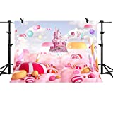 MME 10x7Ft Sweet Candy Pink backdrop Fantasy Dreamland Castle Background Newborn baby Shower Girl Props Studio Video NANME002