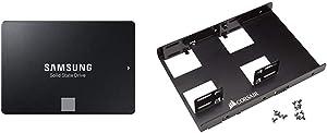 "Samsung 860 EVO 250 GB 2.5 Inch SATA III Internal SSD (MZ-76E 250GB/AM) & Corsair Dual SSD Mounting Bracket 3.5"" CSSD-BRKT2"