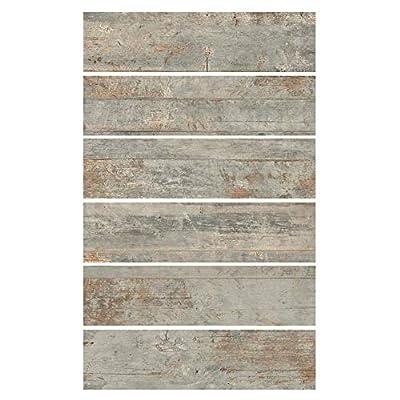 6x24 Country Ocean Porcelain Plank Wood-Look Field Tile Floor (Sold by Piece)
