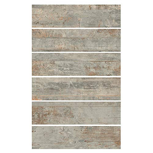 6x24 Country Ocean Porcelain Plank Wood-Look Field Tile Floor (Sold