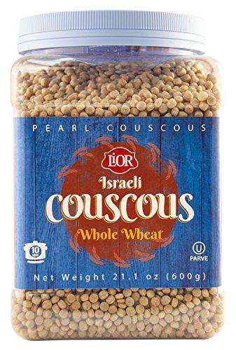 Lior Israeli Couscous Jar, Whole Wheat, 21 Ounce