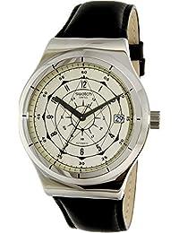 Swatch Men's Sistem51 Irony YIS402 Silver Leather Swiss Automatic Watch