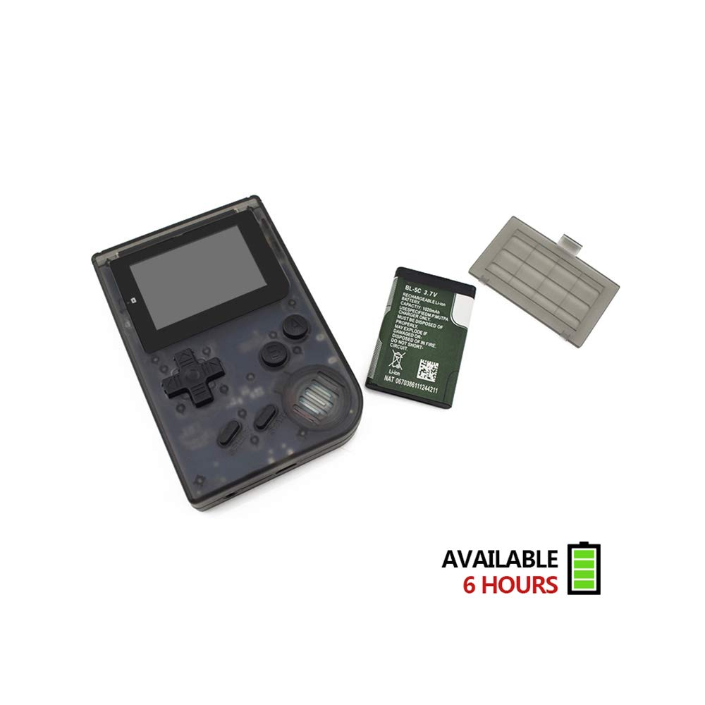 MJKJ Handheld Game Console , Retro Game Console 2 Inch HD Screen 548 Classic GBA Games , Birthday Presents for Children - Transparent Black by MJKJ (Image #6)
