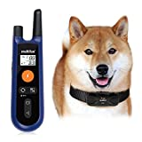 Training Dog Collar - Waterproof Dog Training Collar, multifun Remote Electronic Collar, Rechargeable Dog Collar with Beep Vibration and Shock Function