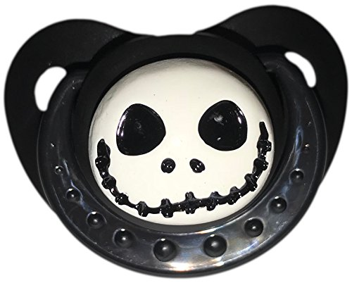 Envy Body Shop Adult Sized Cute Gem Halloween Pacifier Dummy for Adult Halloween Baby ABDL/DDLG/Little Space BigShield (Black, Little Nightmare) for $<!--$12.99-->