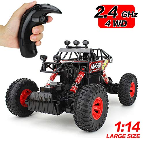 (Jellydog Toy Remote Control Truck , RC Rock Crawler, RC Climbing Vehicle , 4WD High Speed Rock Crawlers ,1:14 Scale 2.4Ghz Racing Car, Buggy Hobby Toy for Boys)