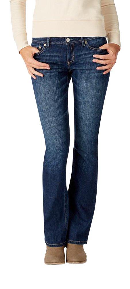 Aeropostale Women's Low-Rise Bootcut Jean 14 R Dark Wash