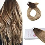 Moresoo Tape in Extensions Human Hair Real Extensions Seamless Skin Weft Hair 16inch