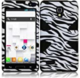 Importer520 Dynamic Hybrid Tuff Hard Case Snap On Phone Silicone Cover Case For LG Optimus L9 P769 MS769 P760 Zebra+Black