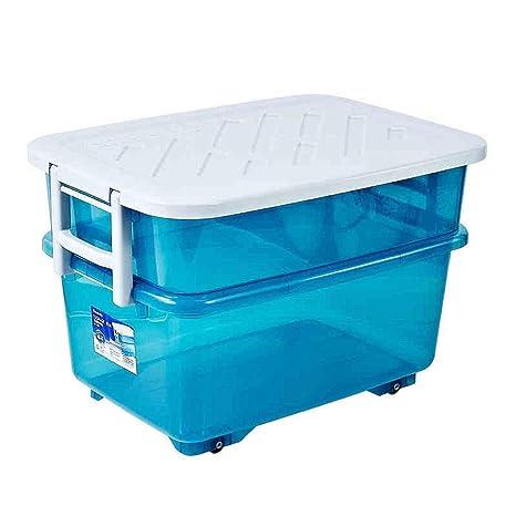 Amazon.com: DaFei - Caja de almacenamiento con tapa, 60 L ...