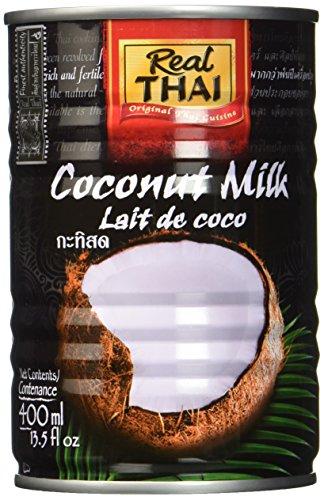 진짜 태국 코코넛 우유, 6 팩 (6 x 400 ml)