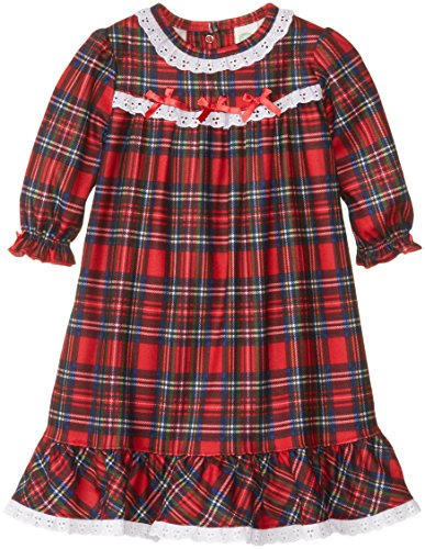 Little Me Baby Girls' Christmas Plaid Gown, Red