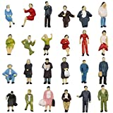 P8717 72pcs HO scale 1:87 Seated and Standing People figures passengers new