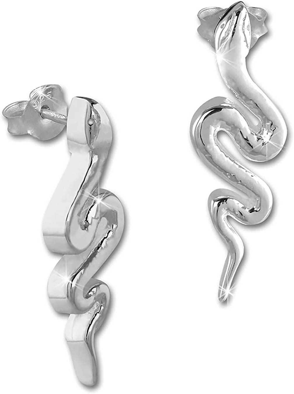 Teenie Weenie-oreilles enfants Argent 925 Boucles doreilles serpent glamour SDO4296J