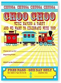 Amazoncom Transportation Train Themed Birthday Party Invitations