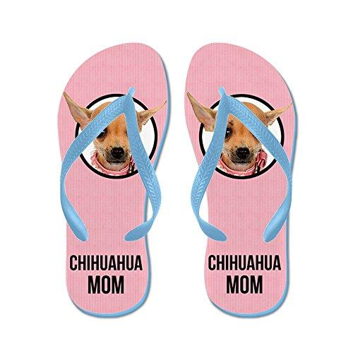 CafePress Chihuahua Mom - Flip Flops, Funny Thong Sandals, Beach Sandals Caribbean Blue