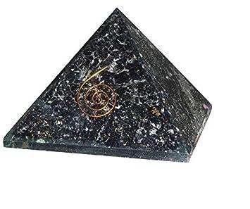 Black Tourmaline Stone Pyramid Reiki Gemstones Energy Generator Spiritual