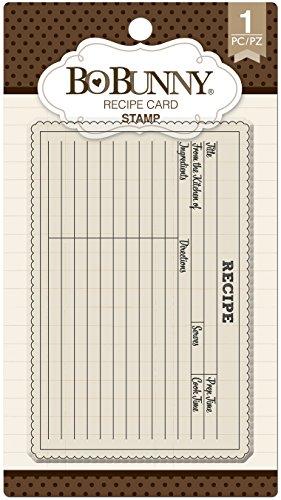 Bo Bunny Recipe Card Stamps, Multicolor ()