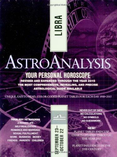 Read Online AstroAnalysis: Libra (AstroAnalysis Horoscopes) pdf epub