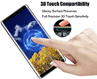 Galaxy Note 8 Screen Protector, Full Coverage Screen Protector, Tempered Glass 3D Curved HD Clear Anti-Bubble Film for Samsung Galaxy Note 8 [2-Pack] from AsianiCandy