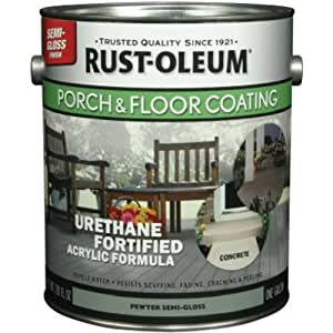 RUST-OLEUM 244058 Gallon Pewter Semi-Gloss Porch and Floor Urethane Finish
