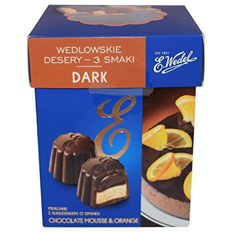 Amazon.com : E. Wedel Wedlowskie Desery Milk Chocolate Pralines in 3 Flavors 192g (Pack of 2) (Fusion) : Grocery & Gourmet Food