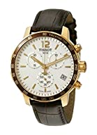 Tissot Men's T0954173603700 Analog Display Swiss Quartz Brown Watch