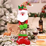 HSQM Holding a Bottle of Champagne Wine Bottle Bag Christmas Decorations