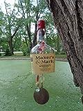 Maker's Mark Whisky Wind Chime - Bar Decor - Outdoor Decor - Bottle Wind Chime