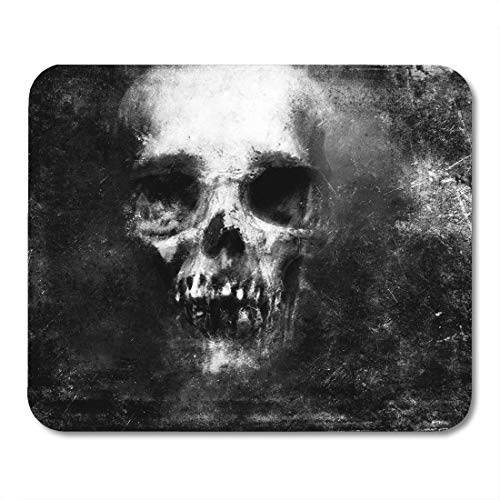 Emvency Mouse Pads Face Scary Skull Halloween Metal Death Pattern Devil Monster Mousepad 9.5