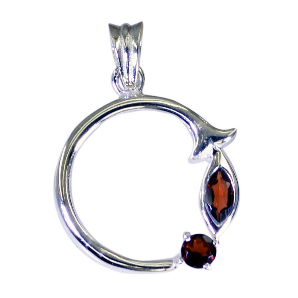 Jewelryonclick Garnet Silver Pendant For Women January Birthstone Charm Chakra Healing Necklace For Gift