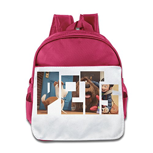 XJBD Custom Cool Life Of Pets Poster Children School Backpack For 1-6 Years Old ()
