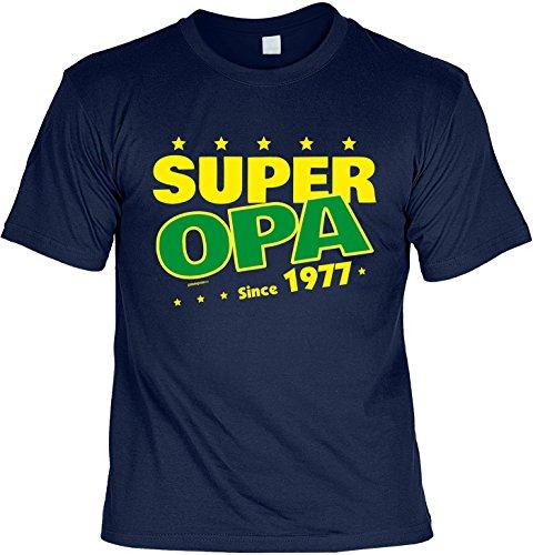 T-Shirt - Super Opa Since 1977 - lustiges Sprüche Shirt als Geschenk zum 40. Geburtstag