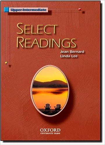 Select Readings Upper-Intermediate: Student Book by Bernard Jean Lee Linda (2003-10-23)