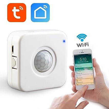 aixi-SHS Wi-Fi PIR Sensor de Movimiento Activa alertas Detector de Movimiento-