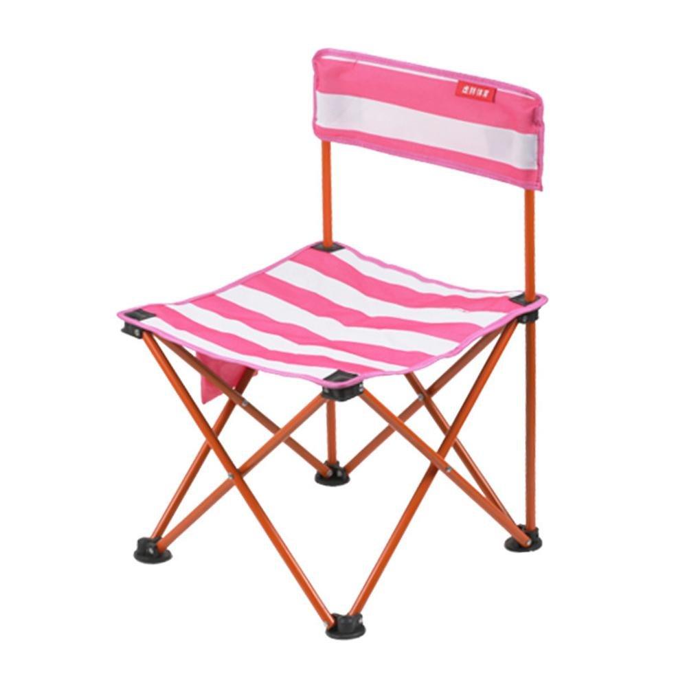 UmiweコンパクトFolding Camp Chair、アウトドアポータブル折りたたみ椅子with Carryバッグ B07FBL82BX  ピンク