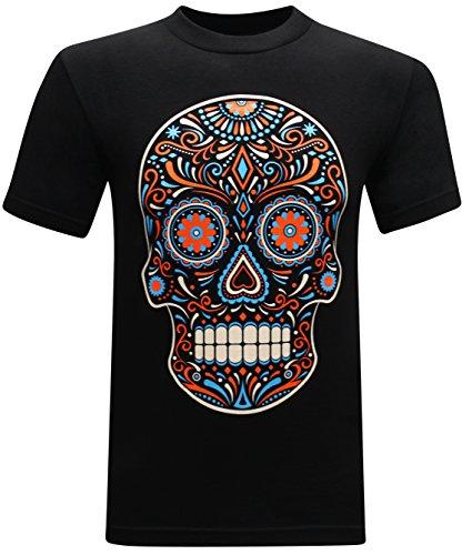 Dia De Los Muertos Men's Funny T-Shirt - (Small) - (Dia De Los Muertos Men)