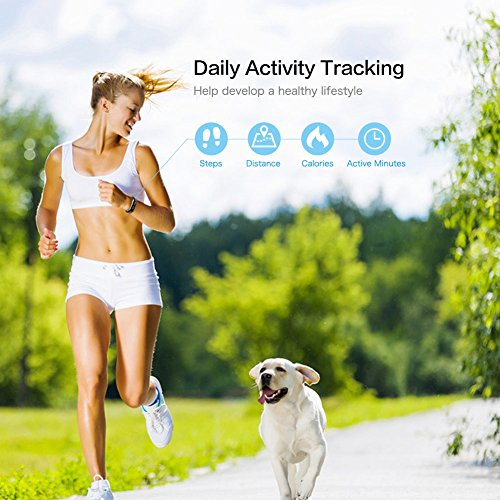 Large Product Image of LETSCOM Fitness Tracker, Activity Tracker, IP67 Water Resistant Smart Bracelet as Step Counter, Sleep Monitor, Pedometer, Calorie Counter Watch for Kids Women Men