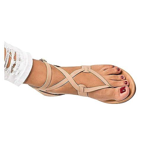 Anguang Piatti Sandali Romani Donna Scarpe Clip Toe Flip Flop
