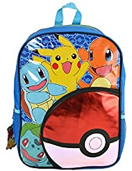 Pokemon 16 Pokeball Front Pocket Backpack