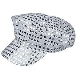 70s Disco Club Sequin Silver Hat
