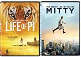 The Secret Life of Walter Mitty & Life of Pi DVD Bundle Dreamer Movie Set