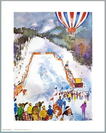Colgate Women's Ski Championships Poster Signed by Cecile Johnson