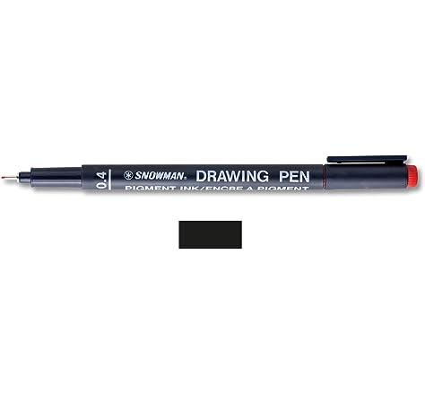 Buy Snowman Drawing, Zentangle & Manga Pens - Black - 04