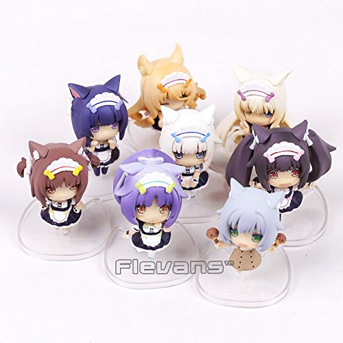 Amazon.com: 8pcs/set NEKOPARA Chocolat Vanilla Azuki Coconut Maple Cinnamon Q Version PVC Figures Collectible Model Toys 7cm: Toys & Games