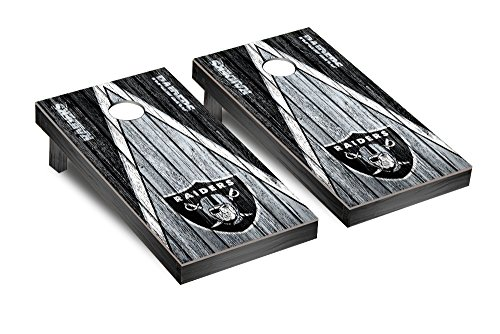 NFL Oakland Raiders Triangle Weathered Version Football Corn hole Game Set, One Size by Victory Tailgate