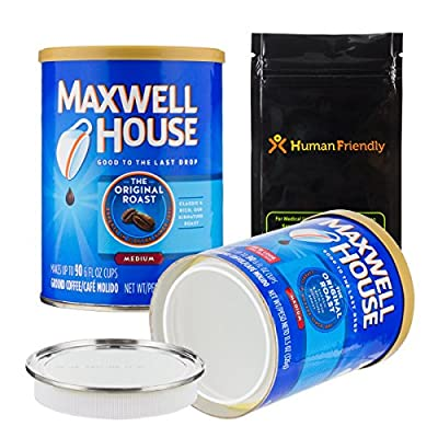 Maxwell Coffee Diversion Safe Stash Can w HumanFriendly Smell-Proof Bag