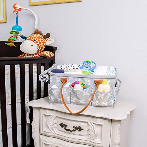 Moteph Extra Large Diaper Caddy, Craft, Toy Organizer with Zip-Top Cover with Waterproof Wet/Dry Bag - Perfect for Baby Shower
